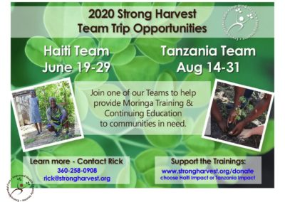 Strong Harvest- 2020 Missions